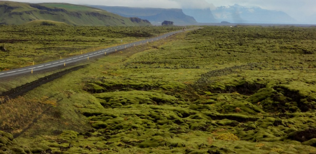 The open highway on the Ring Road Iceland