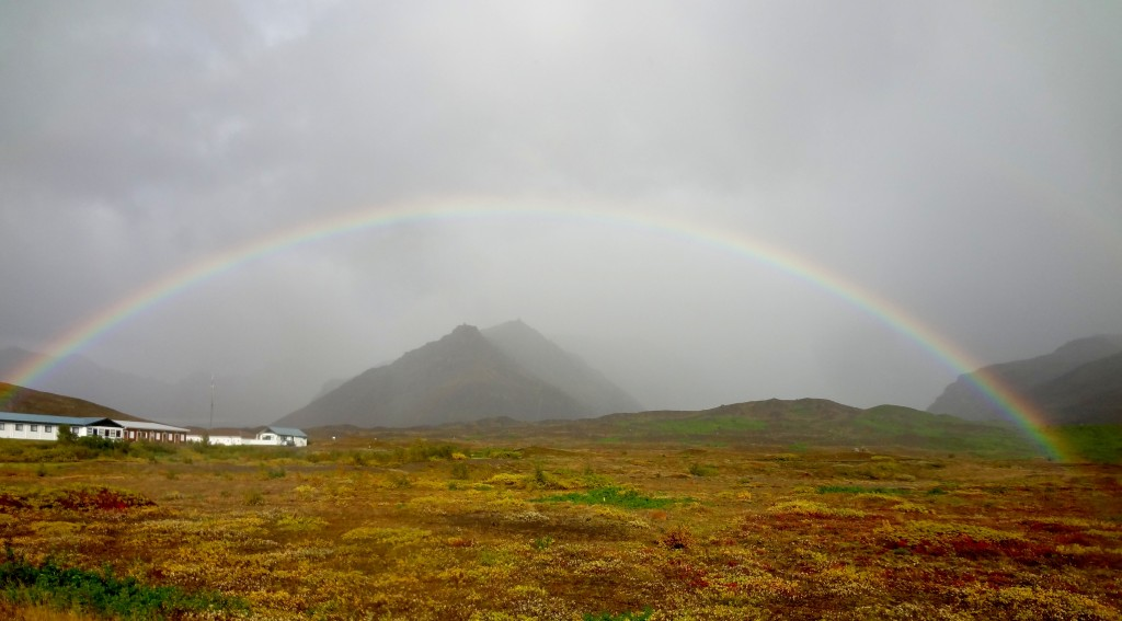 The many rainbows along the Ring Road Iceland trip