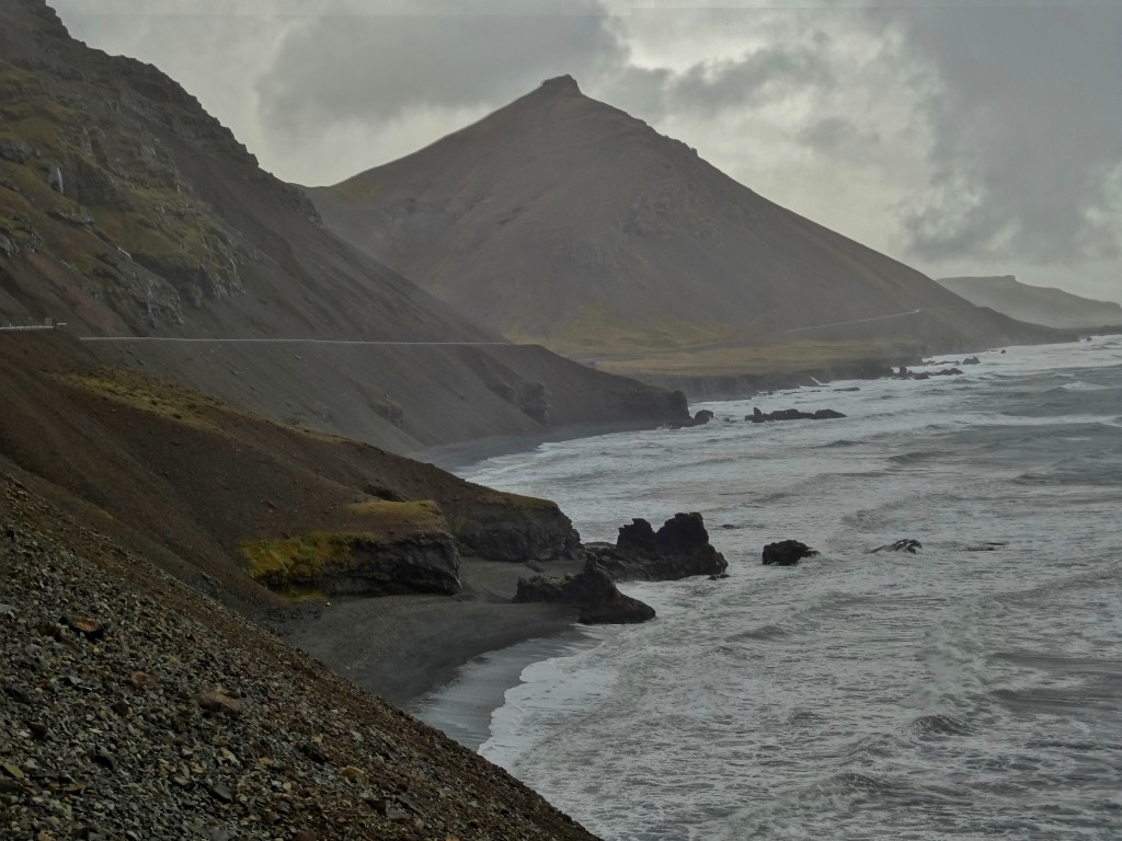 Driving along the coastline - Ring Road Iceland