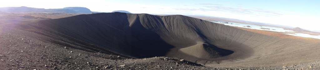 Panoramic view of Hverfell crater