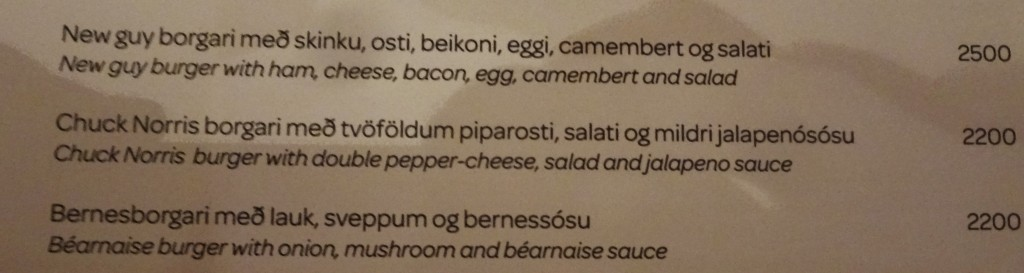 The Chuck Norris burger in Iceland