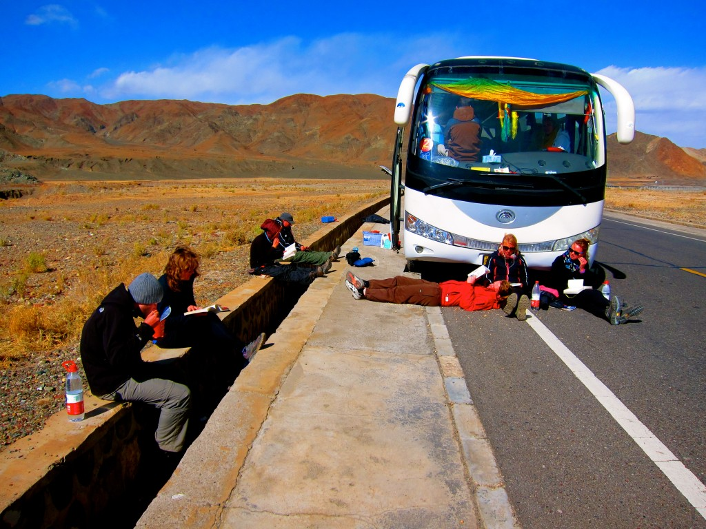 Broken Down on a Tibet Road