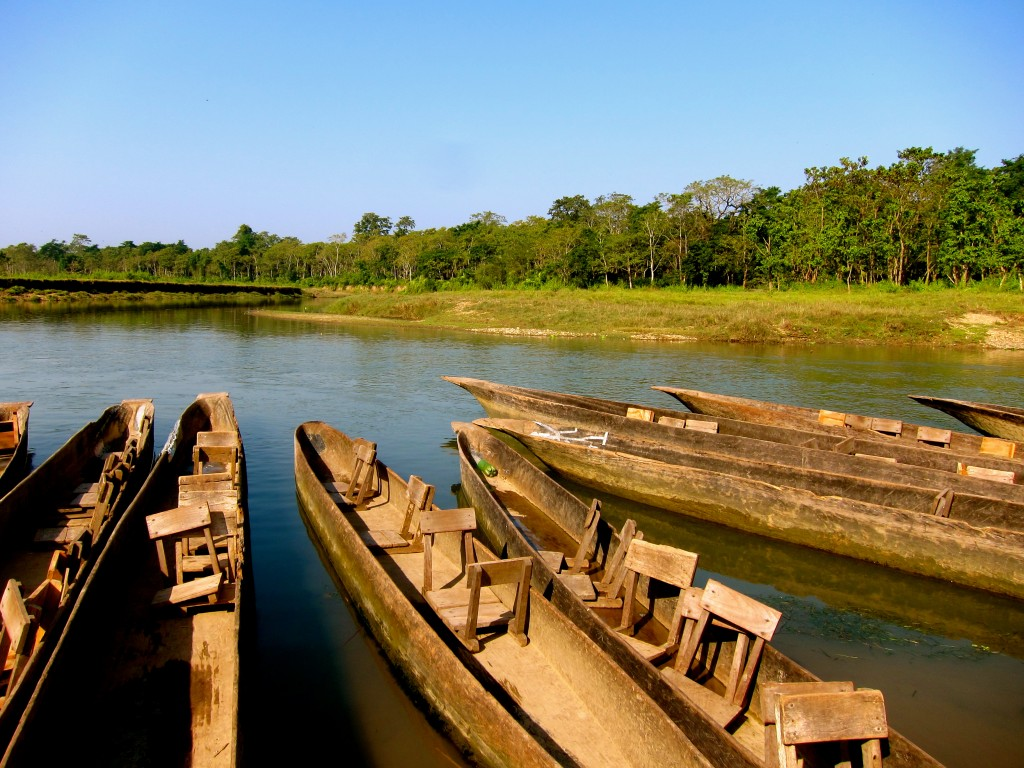 Canoes in Chitwan
