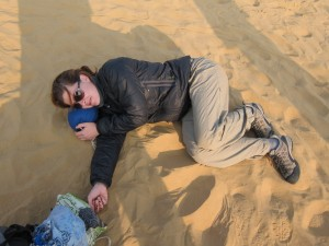 A bit of food poisoning on the camel safari...