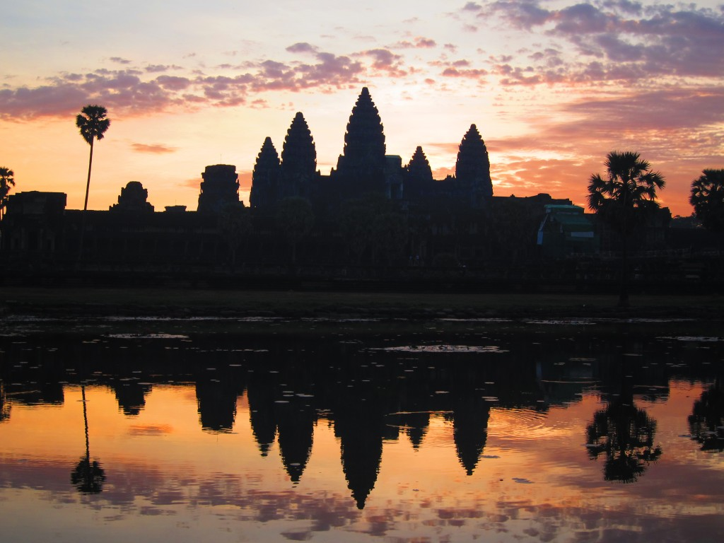 Sunrise at Angkor Wat around 6AM
