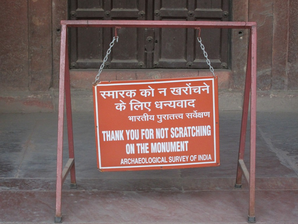 Lost in Engrish Translation 2 - No Scratching on the Monument in India