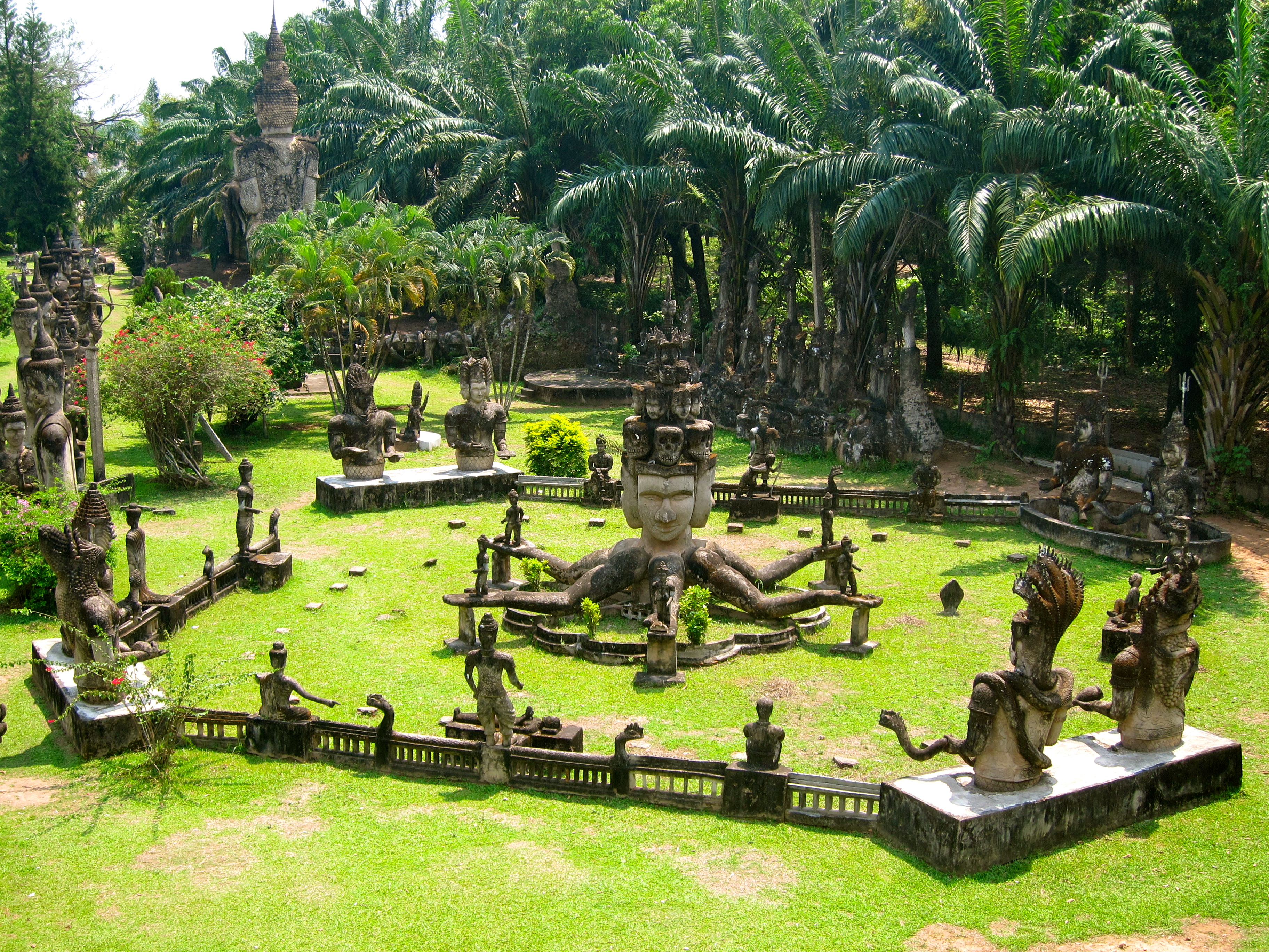 Backpacking vientiane the capital of laos where the for Garden design ideas thailand