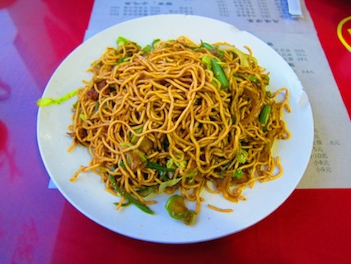 Traditional noodle dish in mainland China